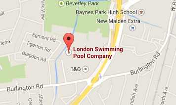 Map to London Swimming Pool Company