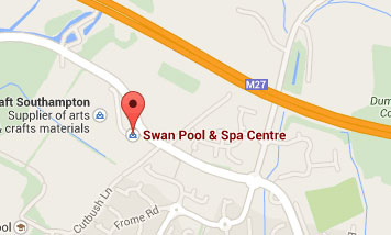 Map to Swan Pool & Spa Centre